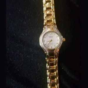 Caravelle by Bulova Gold Tone Mother of Pearl